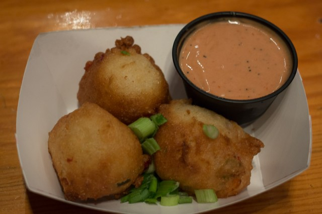 Busch Gardens Williamsburg Food and Wine Festival 2017 Gamba Fritters