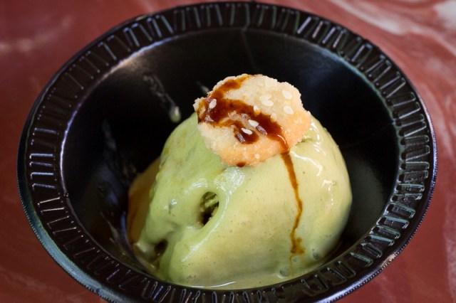 Busch Gardens Williamsburg Food and Wine Festival 2017 Matcha Ice Cream