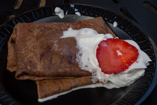 Busch Gardens Williamsburg Food and Wine Festival 2017 Strawberry Cheesecake Crêpe
