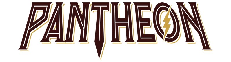 Pantheon Roller Coaster Text Logo