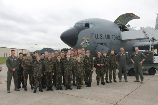 Kingswood cadets hosted by the United States Air Force