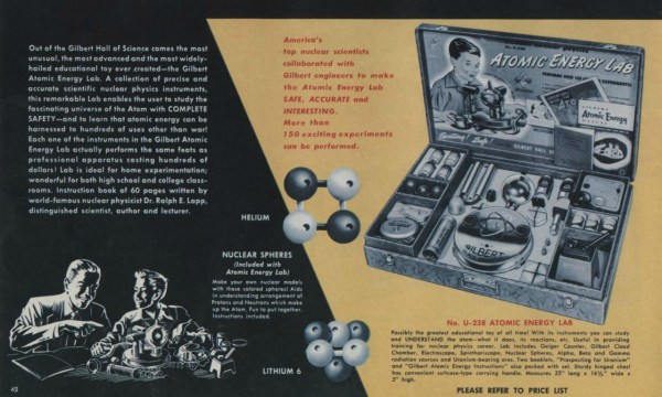 """Playing With Radiation: The 1951 """"Atomic Energy Lab"""" — For ..."""