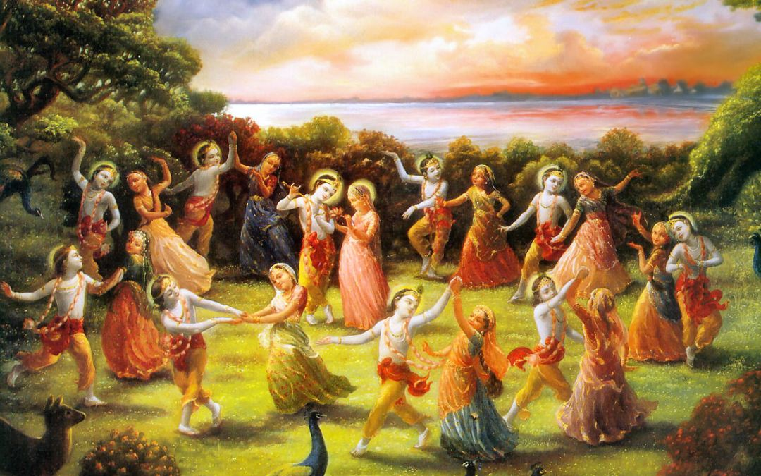 Krsna dances with the Gopis – 15 June 1996