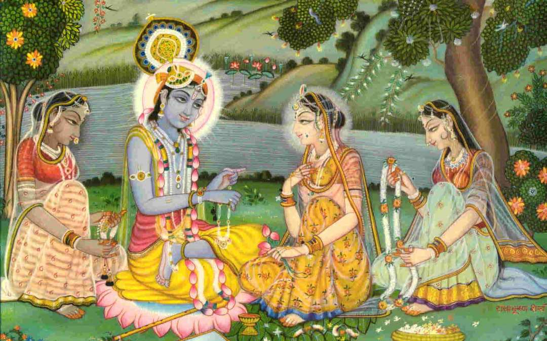 HOW DID KRSNA SERVE AND DECORATE RADHARANI?