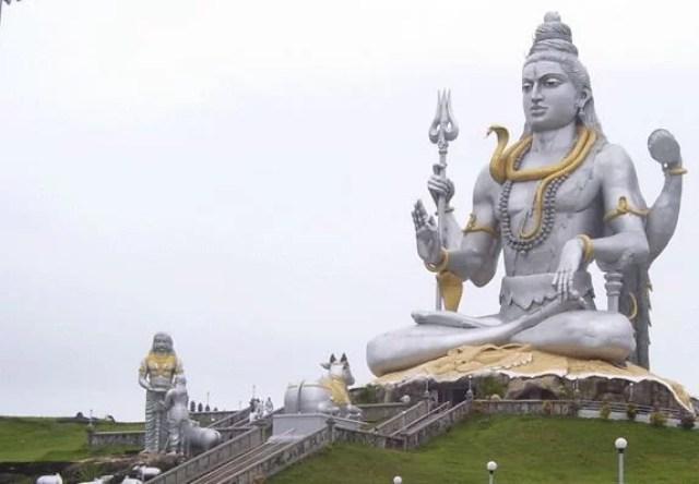 biggest shiva statue in india, famous shiva temples in india