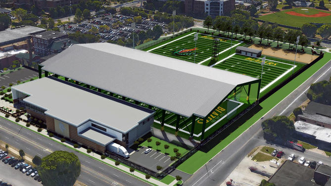 UAB is building an indoor practice field without walls