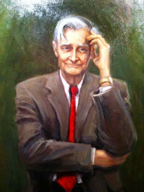 Painting of E.O. Wilson