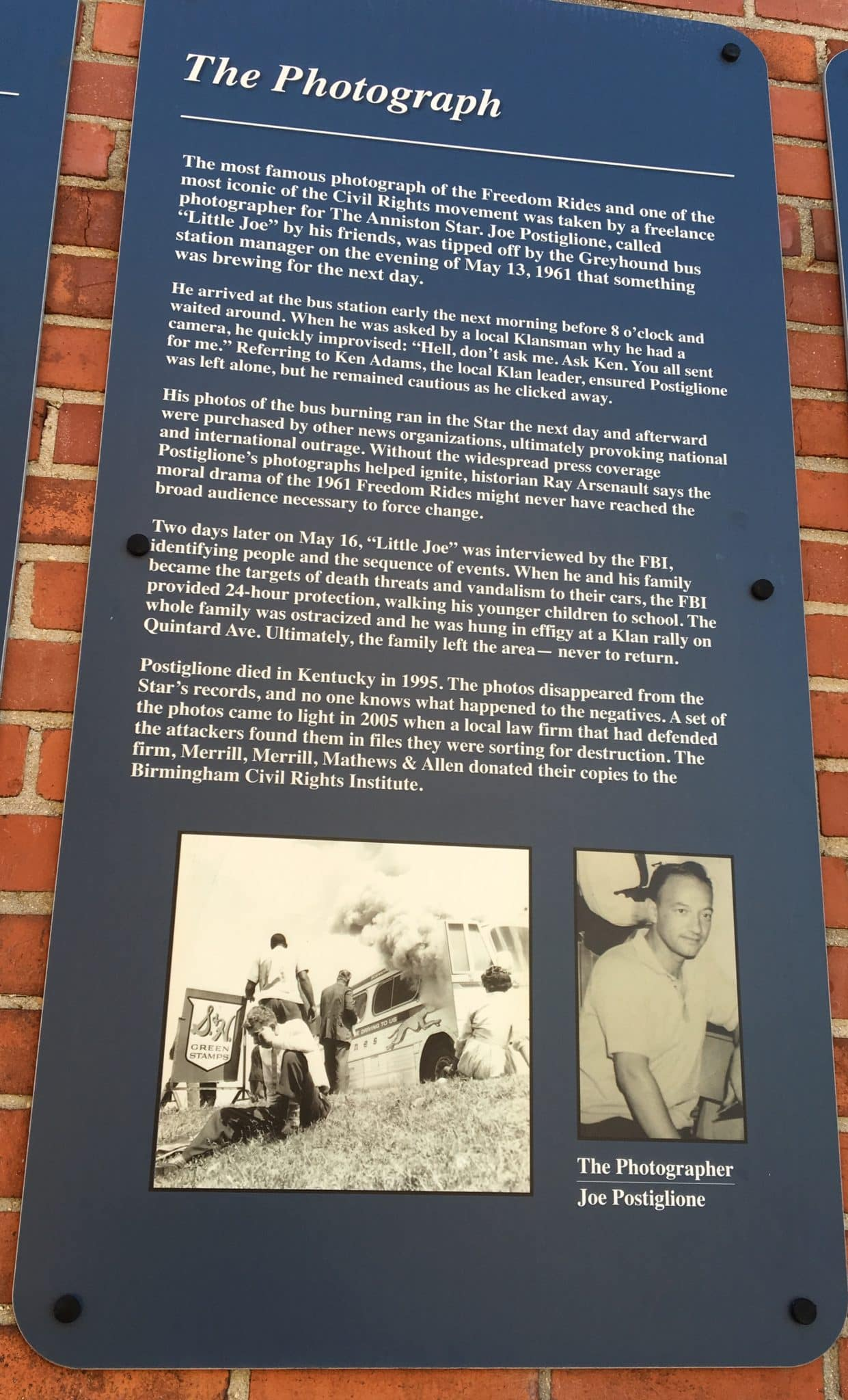 Anniston's Freedom Riders Park and Birmingham's Civil Rights