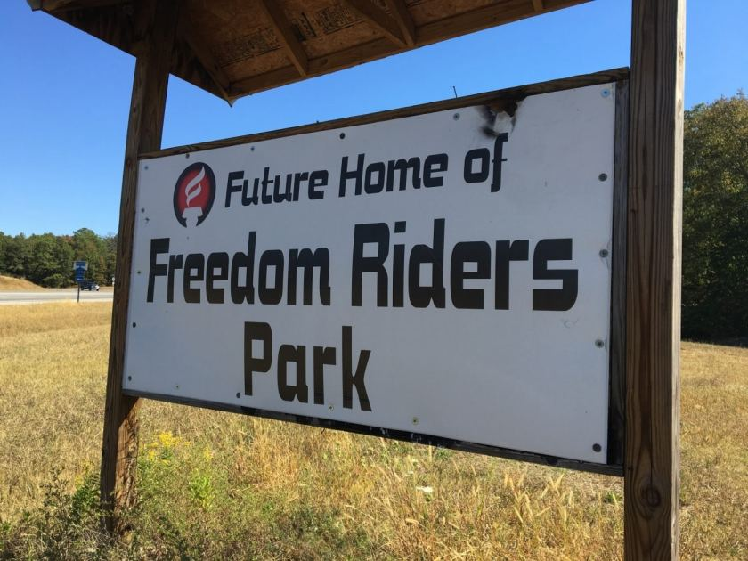 Site of Freedom Riders Park several mile outside the city of Anniston