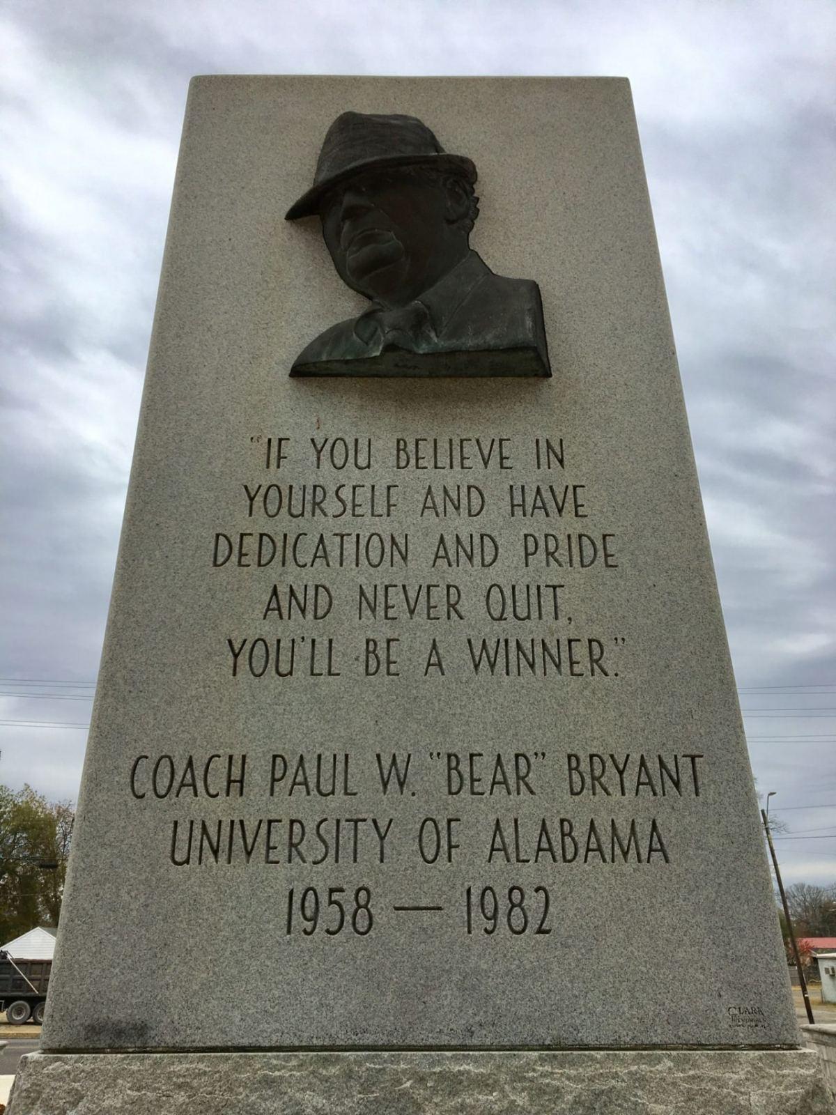 Bear Memorial at Legion Field