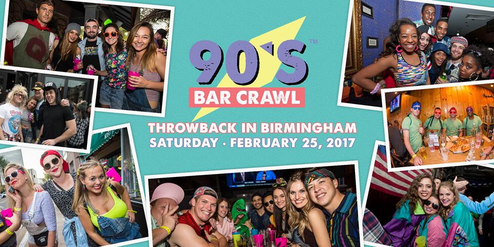 A 90's Bar Crawl is coming to Bham