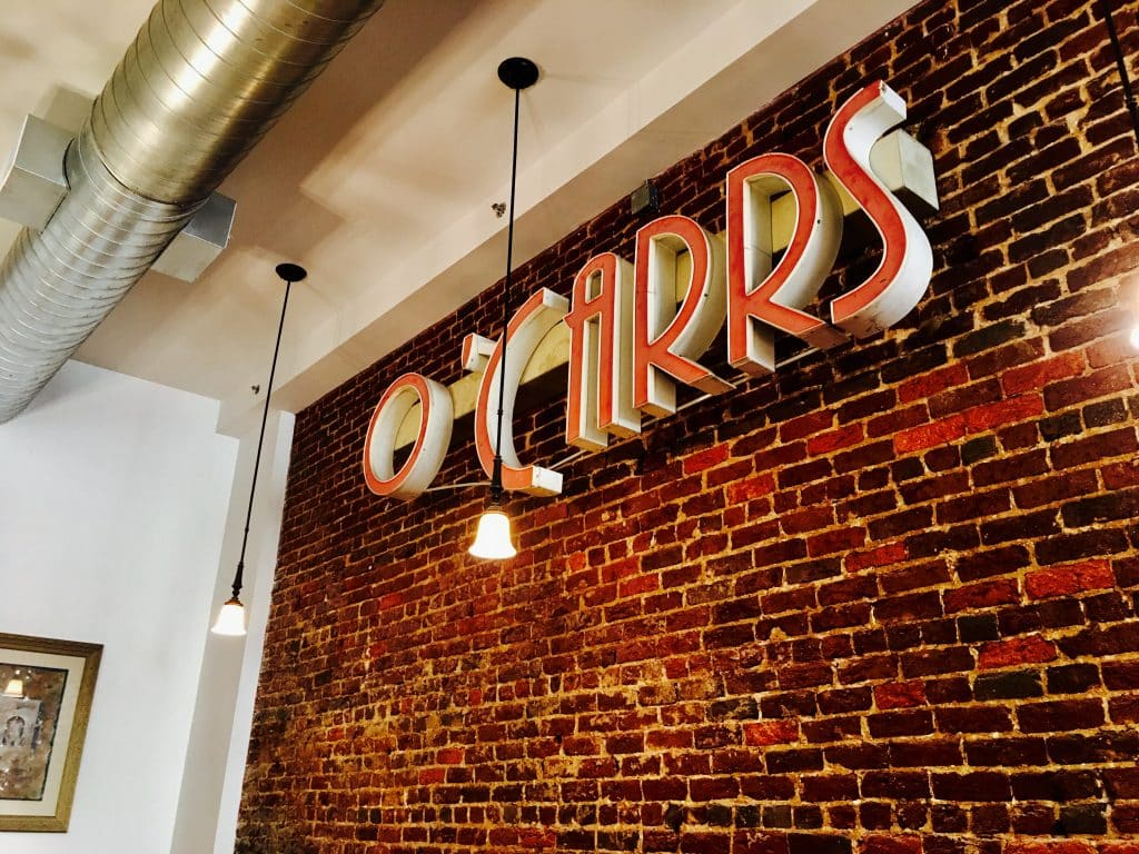 O'Carr's and the chandelier: a classy addition to Birmingham's theater district