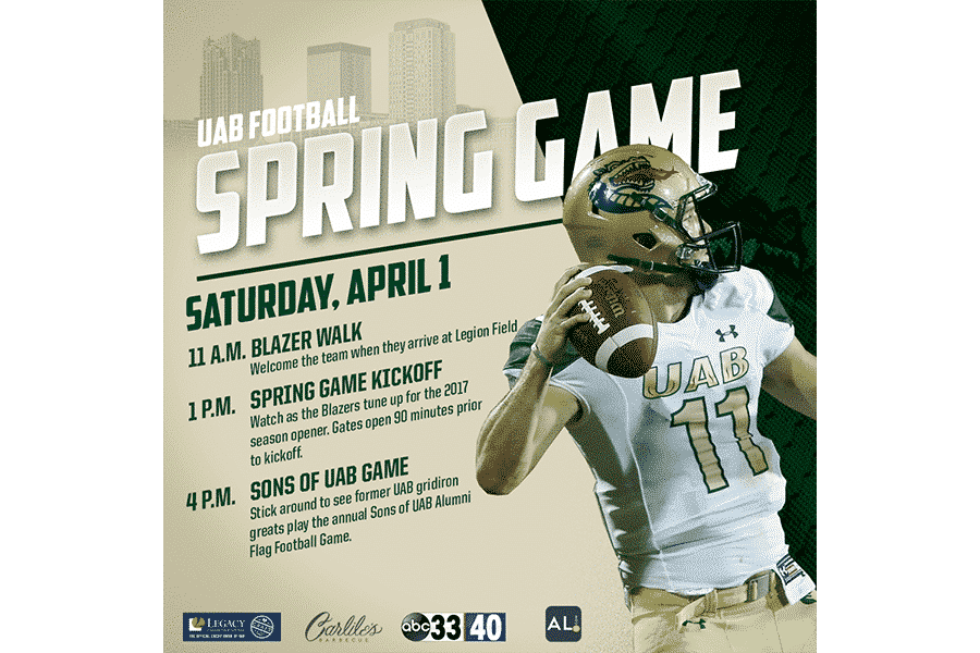 UAB Football is Back this Saturday at their Spring Game