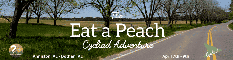 "Ride 250 miles with ""Eat a Peach"" Magic City Cycliad Adventure"