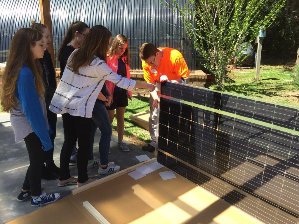 "A ""pretty cool"" legacy – Highlands School students design solar powered outdoor classroom"
