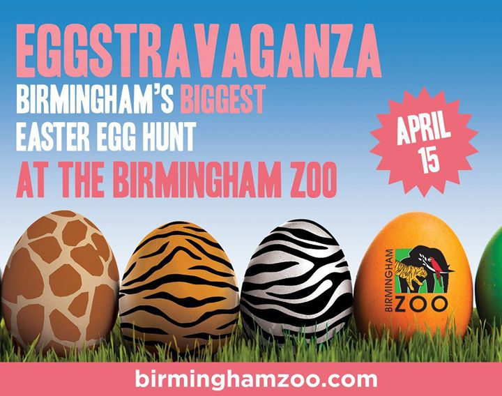 Eggstravaganza Birmingham's Biggest Easter Egg Hunt at The Birmingham Zoo Top Things to do Birmingham April 13th 18th