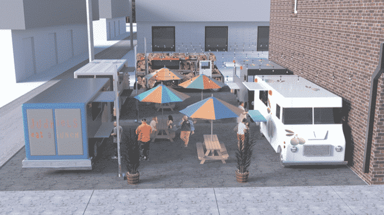 Birmingham's first food truck park rendering