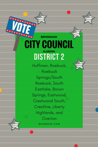 Birmingham City Council Candidates and Neighborhoods District 2