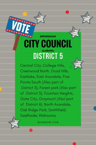 District 5 Birmingham Alabama City Council