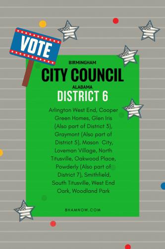 Birmingham Alabama District 6 Neighborhoods