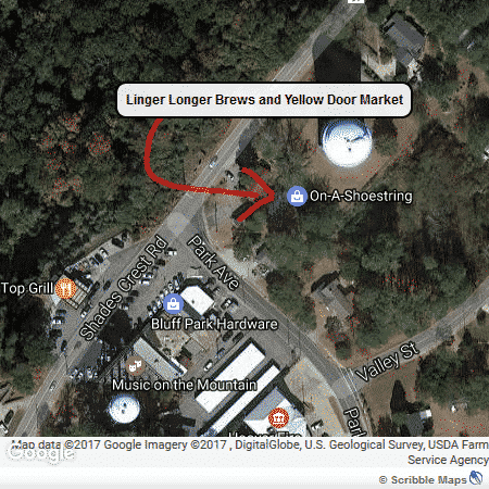 Linger Longer Brews, Yellow Door Market at Bluff Park