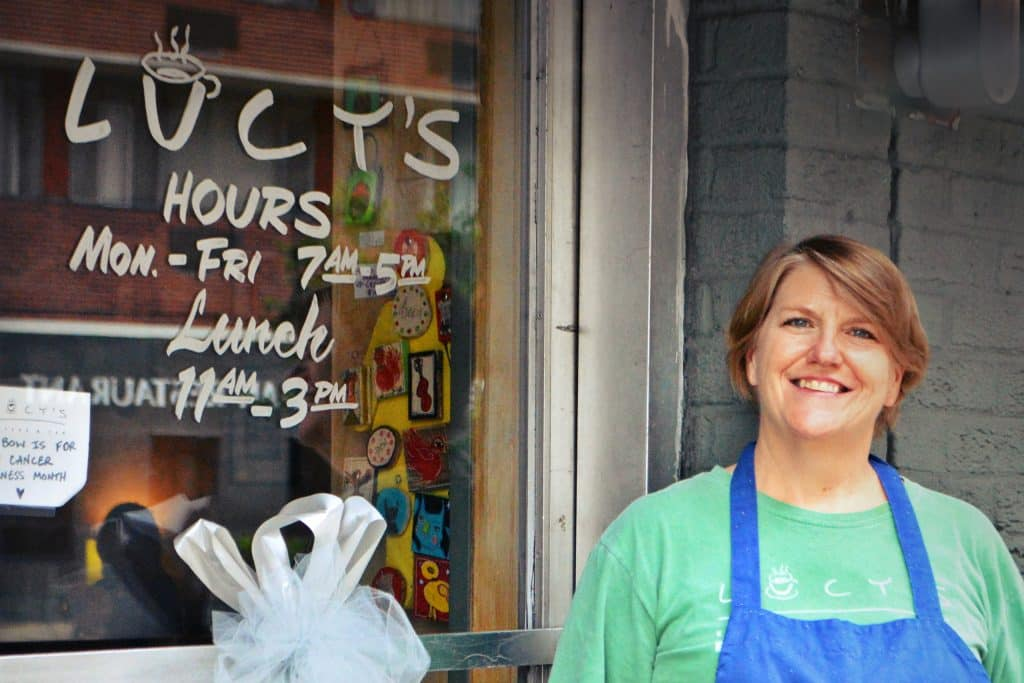 We love Lucy's. Twenty-five years of building community