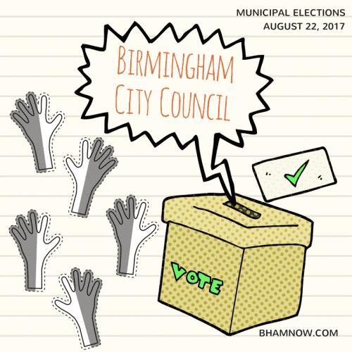 Birmingham Alabama City Council Election Graphic