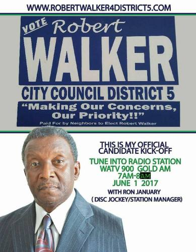 Robert Walker District 5 Birmingham Alabama city council candidate