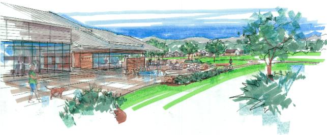 Image may include: GBHS, park, campus masterplan
