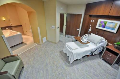 Water birthing suite, via Brookwood Baptist Medical Center hospital labor and delivery