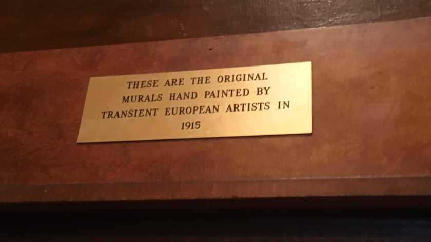 Plaque commemorating the painting of the murals in 1915