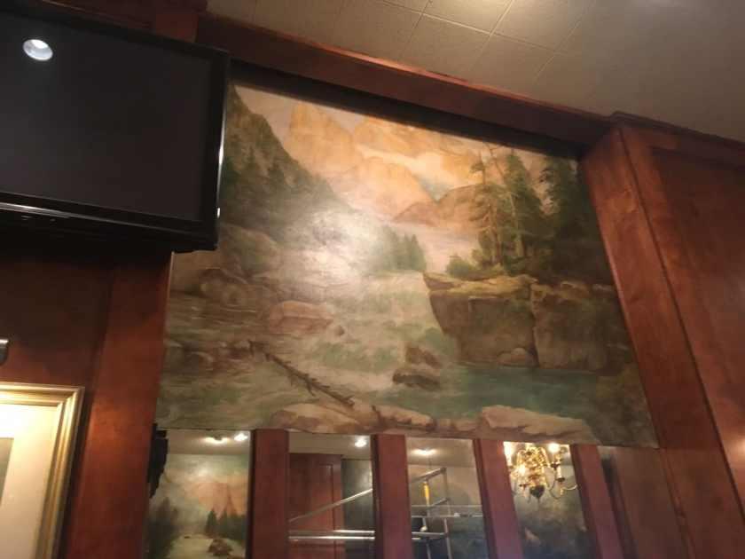 Restored murals in the Bright Star