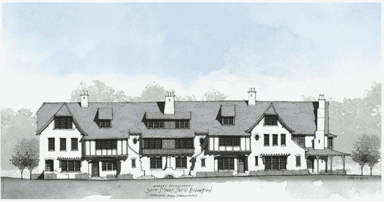 Highland Park townhouse development