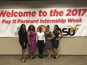 Female interns from Coca-Cola's UNITED internship program