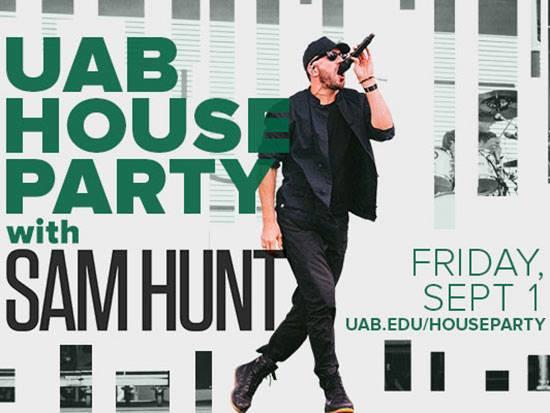 UAB House Paraty Sam Hunt Birmingham AL Top Things to Do
