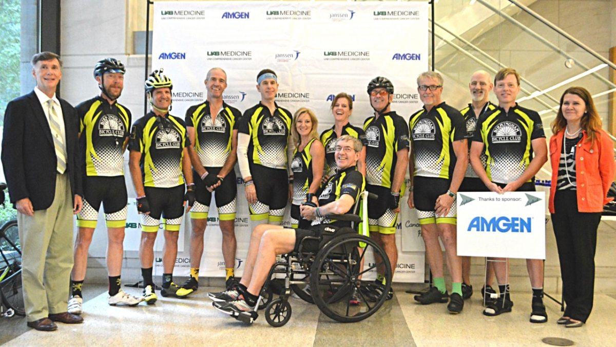 Cyclists alert the state about the dangers of skin cancer with three day, 465 mile route