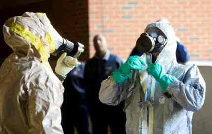 Two doctors participating in a disease outbreak via UAB