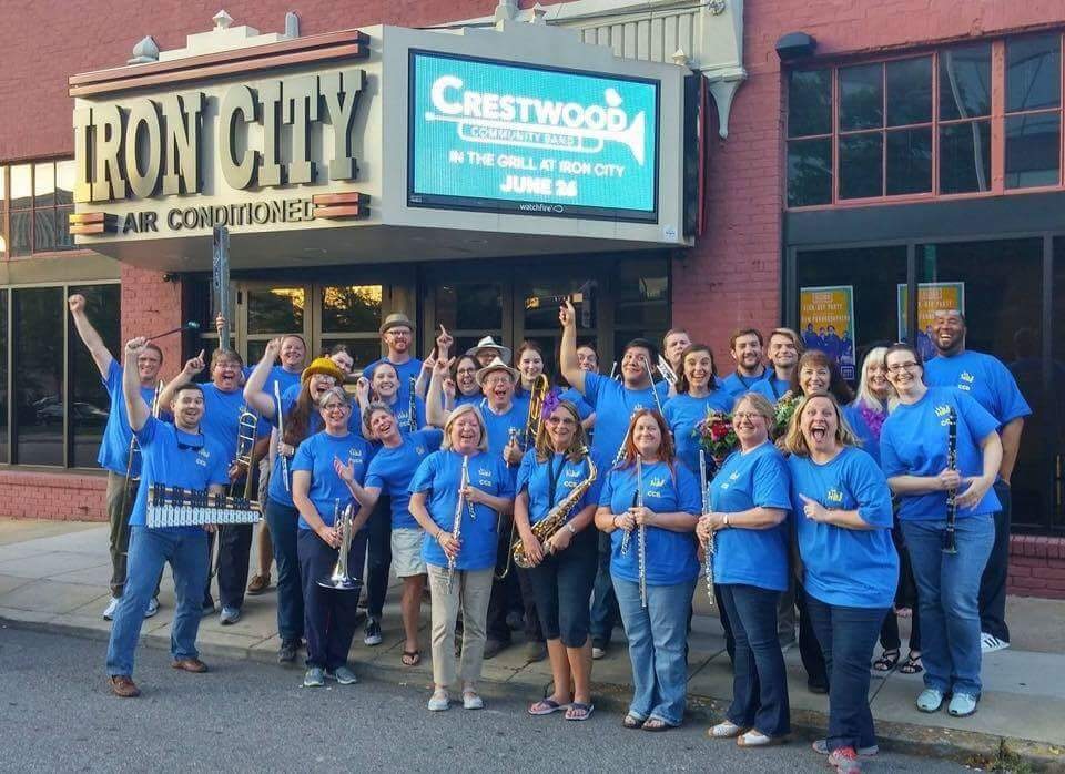 Crestwood Community Band after a performance at Iron City!