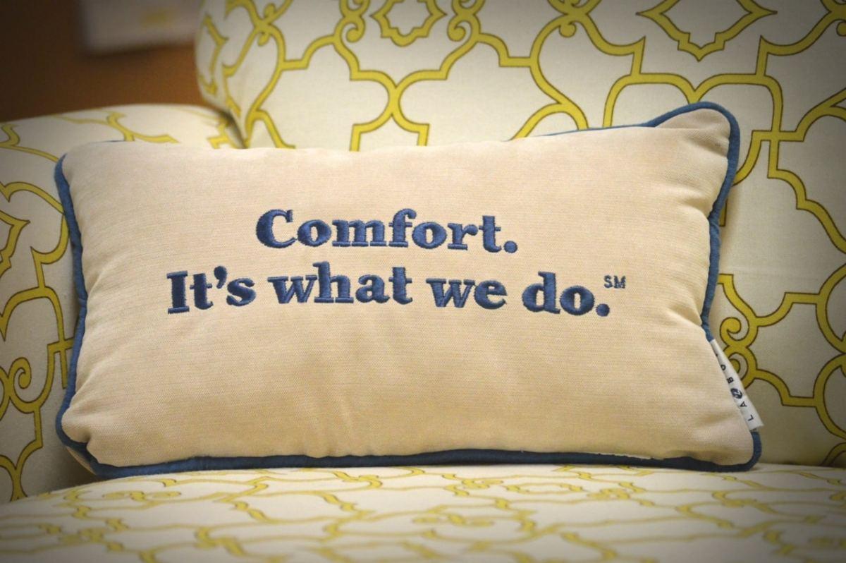 la-z-boy furniture galleries' free in-home design program is a
