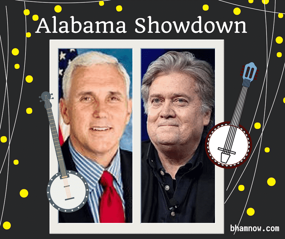 Pence and Bannon in Alabama on the eve of Senate runoff