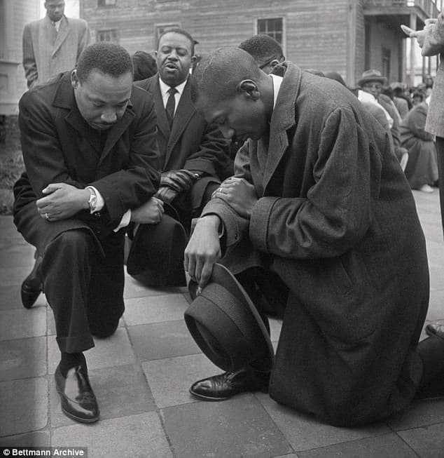 Martin Luther King Jr., kneeling, NFL, protest, civil rights, Birmingham, Alabama, Colin Kaepernick