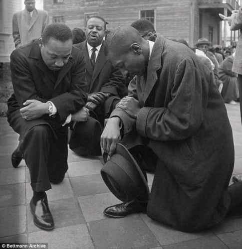 Martin Luther King Jr., kneeling, NFL, protest, civil rights, Birmingham, Alabama, Colin Kaepernick