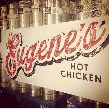 Eugene's Hot Chicken sign.