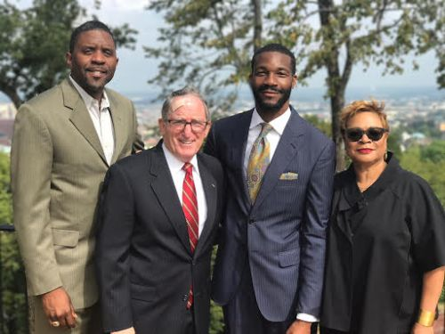 Ed Fields, General Chalres Krulak, Mayor-elect Randall Woodfin and Bobbie Knight, Birmingham, Alabama, transition, committee