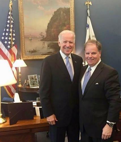 Joe Biden and Doug Jones, Doug Jones, US, Senate, nominee, democrat, republican, democratic, Birmingham, Alabama, election, vote, voting