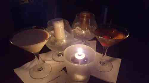 Martini spread at Blue Monkey Lounge