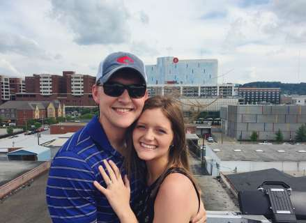 Hannah Acton and Logan Whitehead engaged
