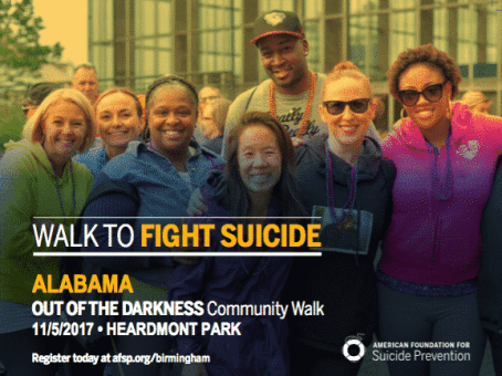 Out of Darkness Walk flyer