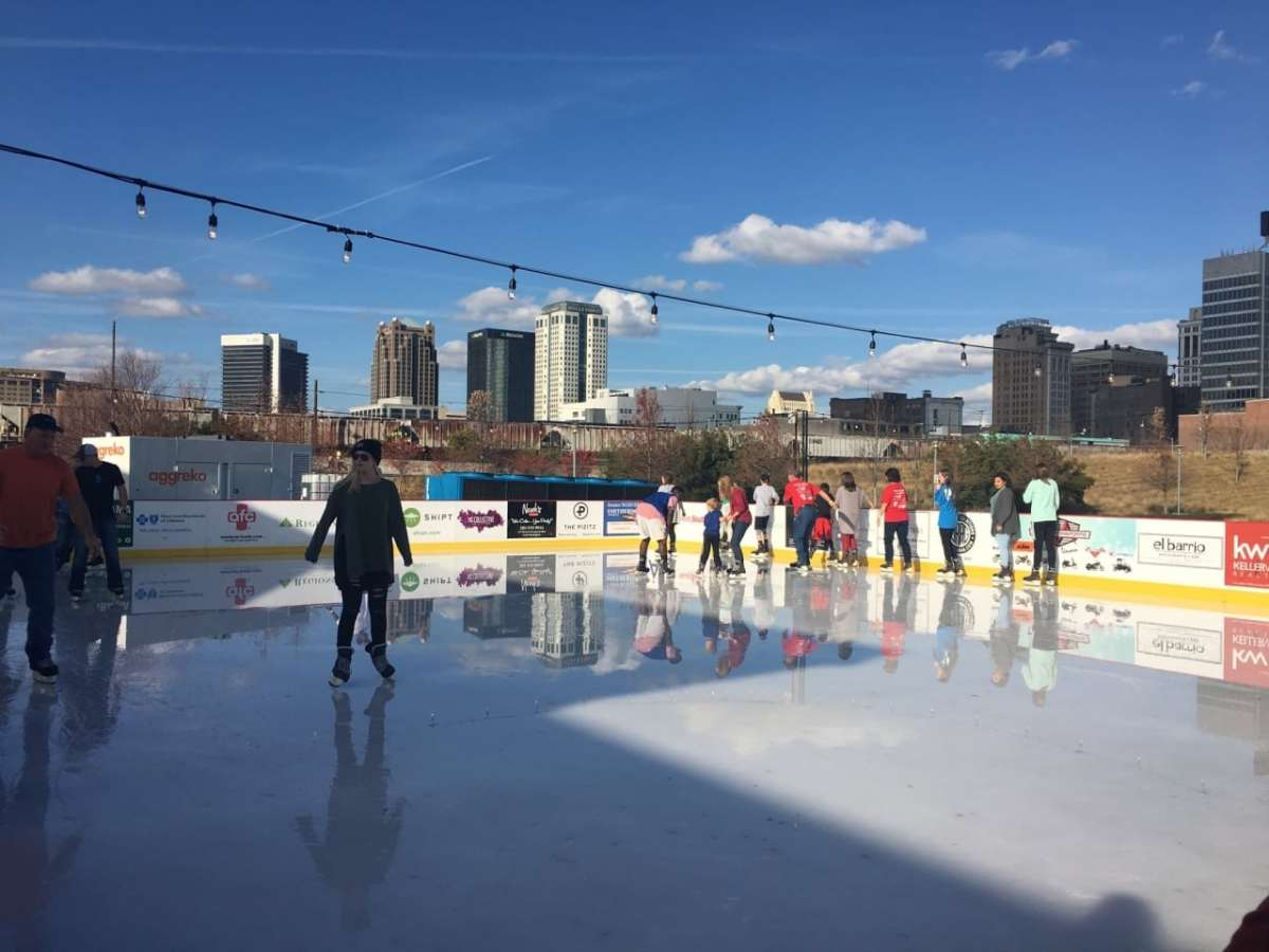 Railroad Park's ice rink re-opens soon