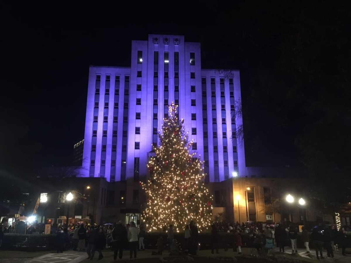 Sights and scenes from the Birmingham Christmas tree lighting ceremony